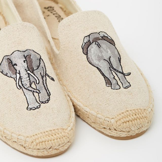 Soludos elephant smoking slippers 大象 草編鞋