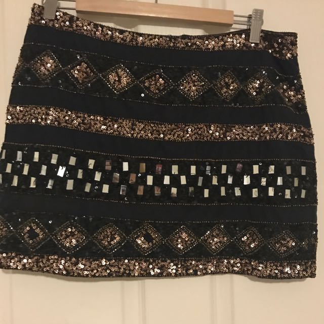 SPORTSGIRL- Embellished Mini Skirt