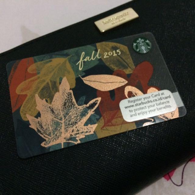 Starbucks Card Fall 2015