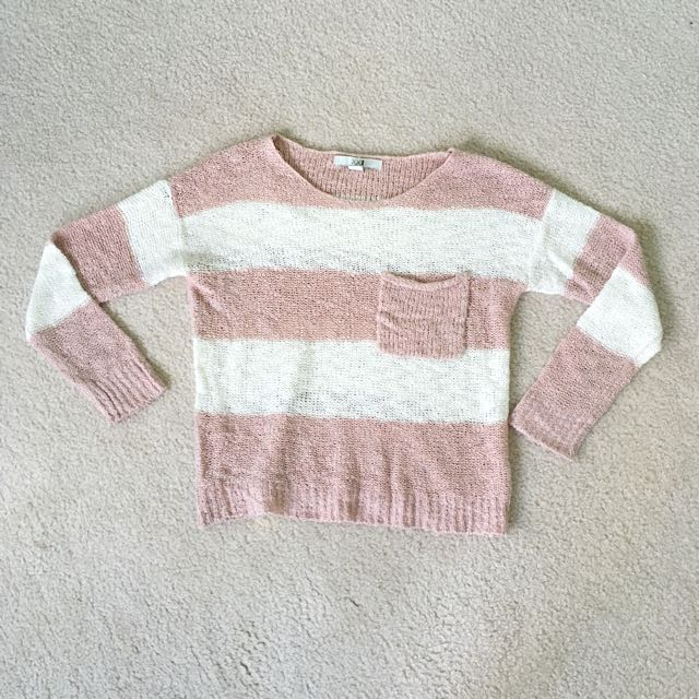Striped Blush sweater