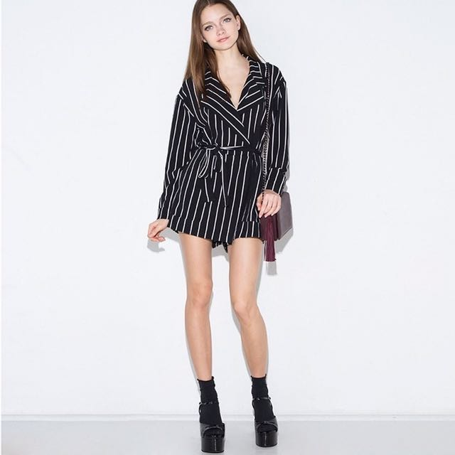 Striped Playsuits
