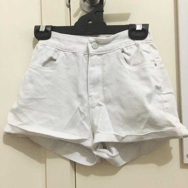 Supre Basic White Shorts