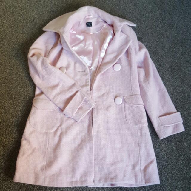 Sz12 Glassons Baby Pink Winter Coat