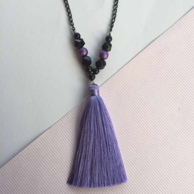 Tassel Necklace Purple