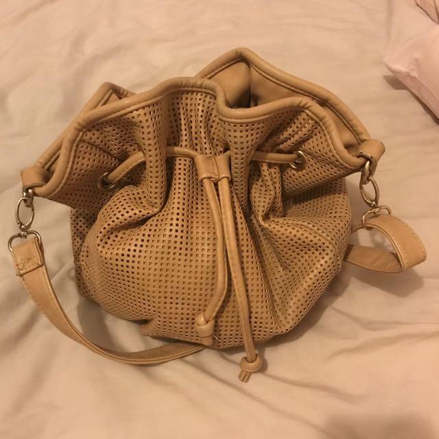 Textured Bucket Bag