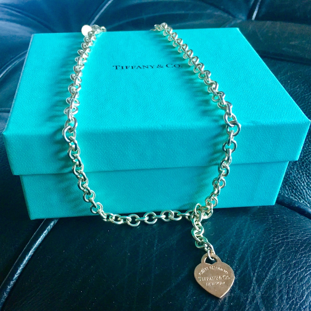 Tiffany & Co Silver & Rose Gold Necklace