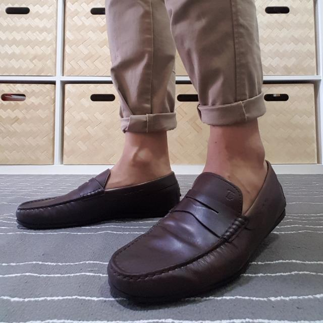 Tod's City Gommino loafer In Dark Brown Leather