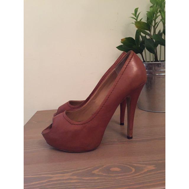 Tony Bianco Tan Heels