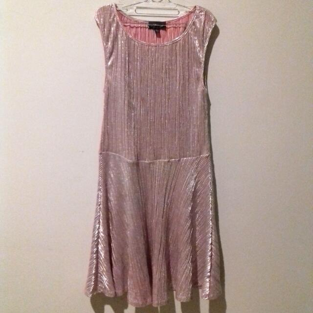 Topshop Metallic Dress