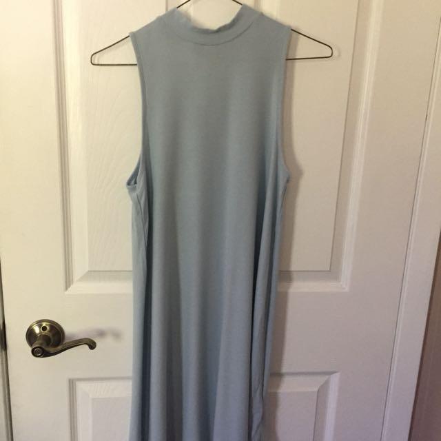 TOPSHOP mock neck dress