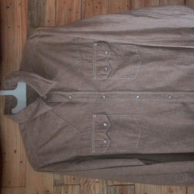 Uniqlo Chambray Shirt Size L