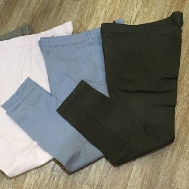 Uniqlo Pants Size 26 (Army Green)
