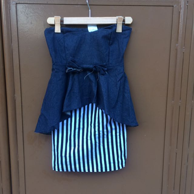 VANILLA TUBE DENIM DRESS
