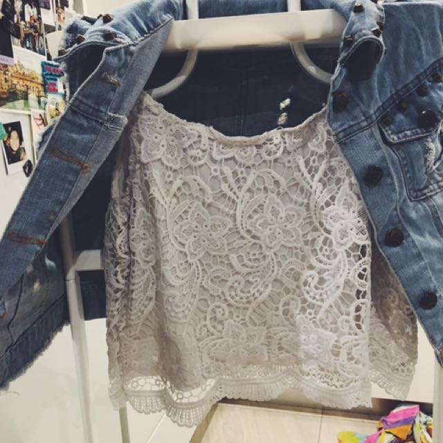 White Lace Top From Hm