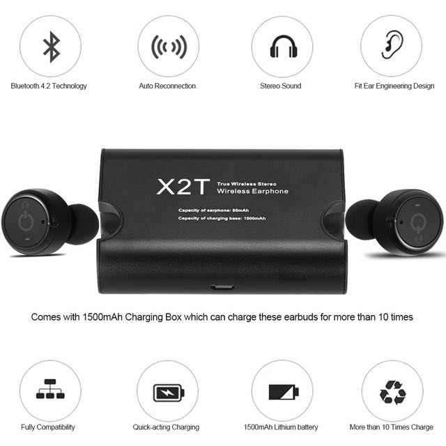 X2T True Wirless Bluetooth