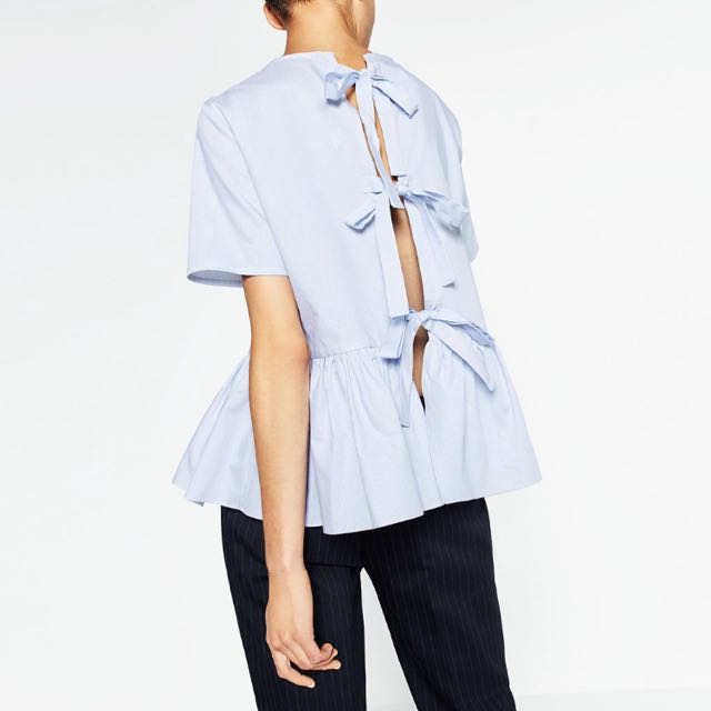 Zara Bow Peplum Top