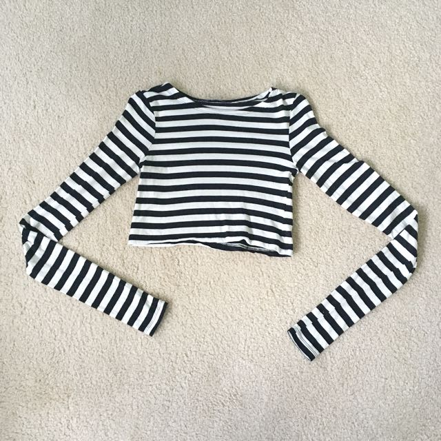 Zara Striped Cropped Top