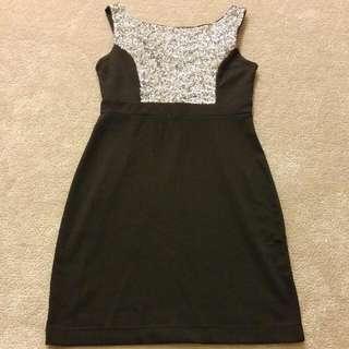 Black Mini Dress (lbd) Size Small