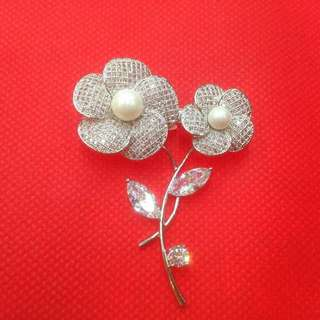 Flower Swarovski Brooch