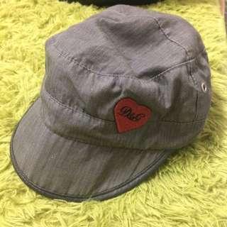 D&G 灰色 小帽 短簷 軍帽 單車帽