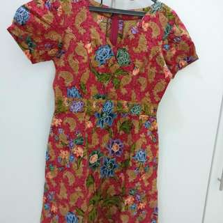 Tailored Batik Dress