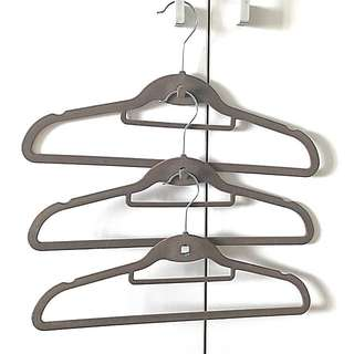 Brandnew Brown Suede Hangers