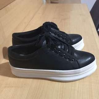 復古風格厚底鞋