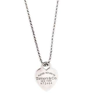 Tiffany And Co Dog Tag Heart Necklace