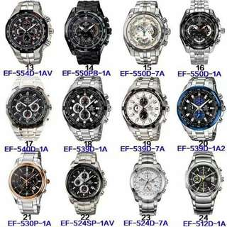Casio Edifice Stainless Watches