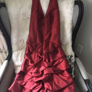 Gorgeous 100% Silk Crimson Dress Size 10