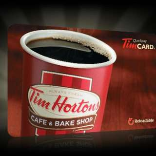 Tim Hortons 100$ card