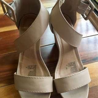 New Platform Heels Beige Sandals