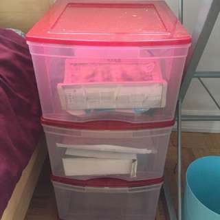 3 Drawer Plastic Storage