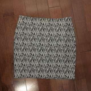 Black And White Mini Skirt