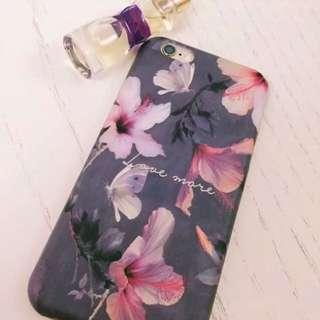 ✨現貨✨復古紫色木槿花 iPhone6/6s 4.7吋手機殼 全包 軟殼