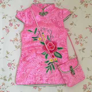 Preloved Baby Girl's Pink Cheongsam