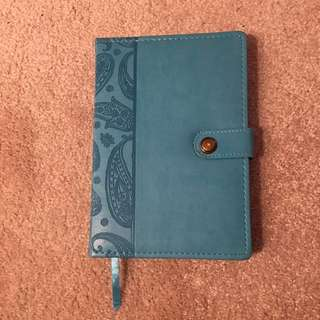 Turquoise Leather Notebook