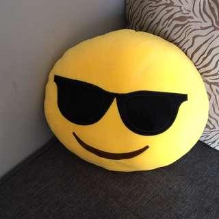 Cool Glasses Emoji Pillow