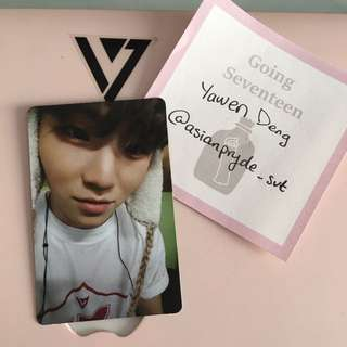 Going Seventeen Make The Seventeen Woozi Photocard