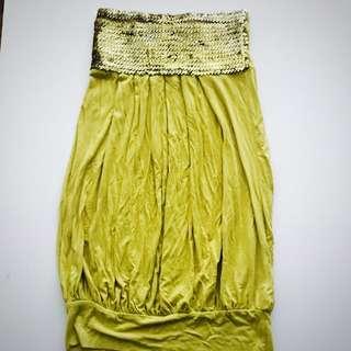 Sunny girl Size 10 Strapless Top/short Dress