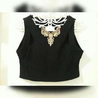 Hole Cropped Top