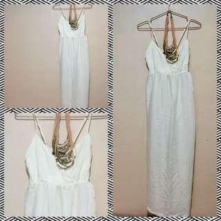 Long White Sun Dress..
