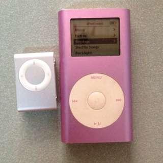 Ipod Mini 4GB and Ipod ShuffLe 2nd Gen