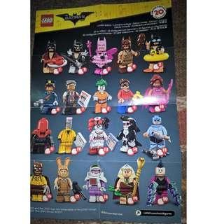 Lego CMS Batman Movie Minifigure (Last 1 set Available) PM me #win1000