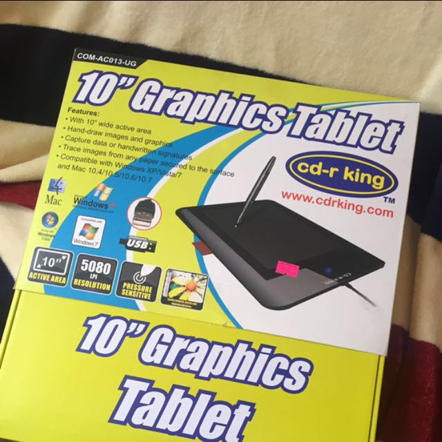 "10"" CDR KING GRAPHICS TABLET"