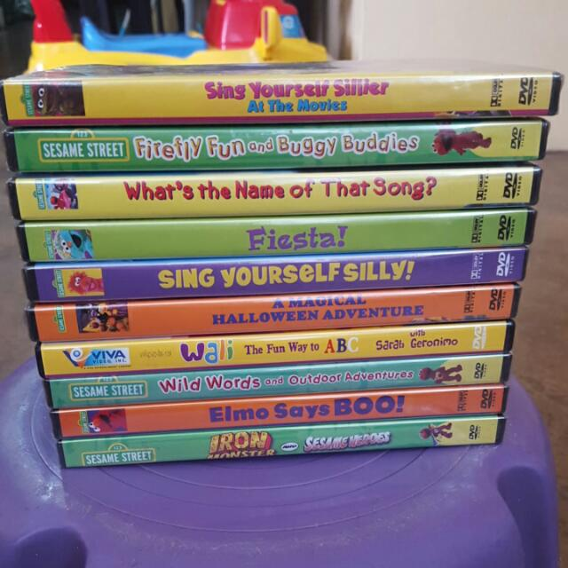 10pcs Orig Sesame Street DVDs