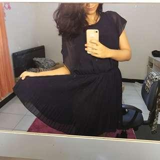 Zalora Mayuki Dress Navy REPRICED