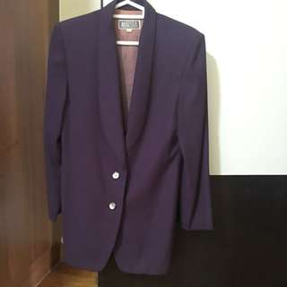 Preloved Marissa Purple Office Jacket