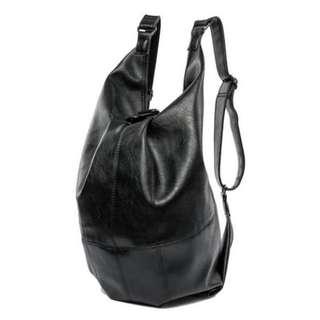 Men's Trendy Black PU Leather Multi-style Sling Bag/ Cross Body Bag/ Crossover Bag MC223