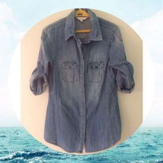 Cache Cache Denim Top